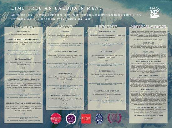 Lime Tree An Ealdhain Restaurant: Menu Summer 2018