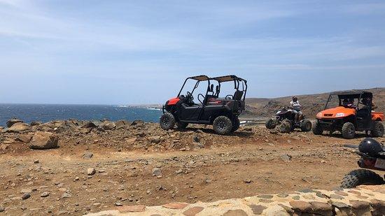 Around Aruba Tours: we had the orange utvs good for two people