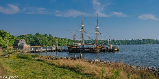 Recreación del barco en Historic Saint Mary's City