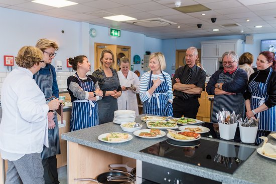 The Seafood School at Billingsgate: Presenting food from cooking lesson - tasting session
