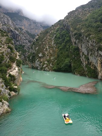 Provence Tours : View of the Gorges from the bridge!