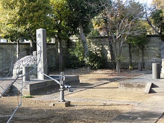 Tombstone of Tokugawa Yoshinobu : 放水銃がありました