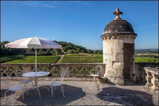 Chateau de La Riviere: Sur la terrasse du Château de La Rivière
