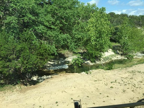 Crider's on the Frio : View of the water from the sleeping loft.