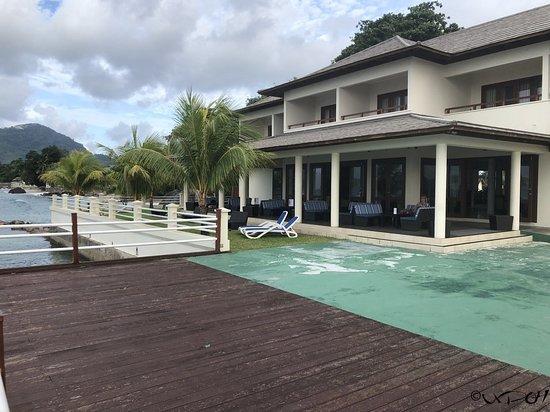 Hilton Seychelles Labriz Resort & Spa : Bootsanleger für Abfahrt nach Silhouette
