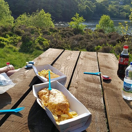 Evans Takeaway & Diner : fish and chips at the Elan Valley