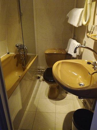 Hotel Au Royal Cardinal: On peut se démaquiller en faisant pipi, pratique ! La couleur on n'en parle pas ok !