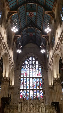 St. Andrew's Cathedral : Beautiful lead light windows and amazing roof.