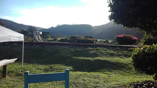 Buffalo Bay, South Africa: Railway line out front