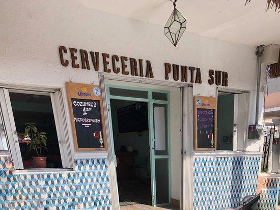 Front of the Cerveceria Punta Sur