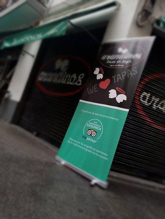Arandinos Tapas Valencia: certificado de excelencia 2018