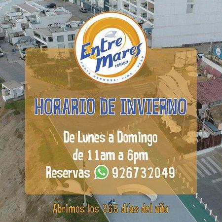 Punta Hermosa, Peru: Horario Invierno