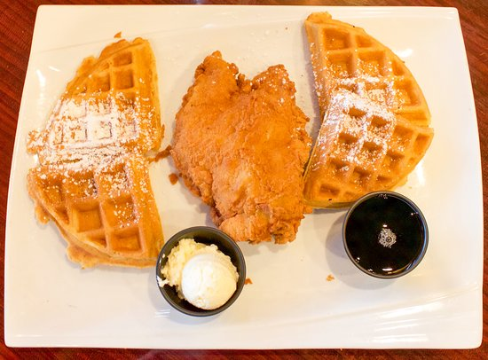 SmoQ : Chicken and Waffles - Your choice of plain or sweet potato pecan waffle