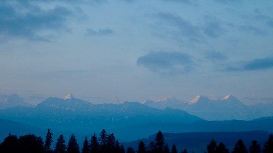 Emmenmatt, Sveits: vue sur les Alpes