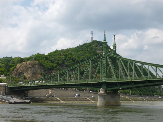 Liberty Bridge (Szabadsag hid): View from the boat