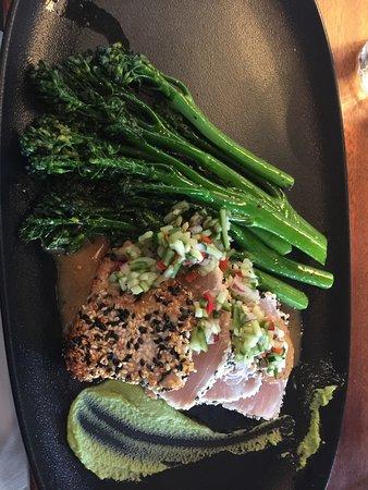 The Sandbar Seafood Restaurant: My seared tuna albacore.