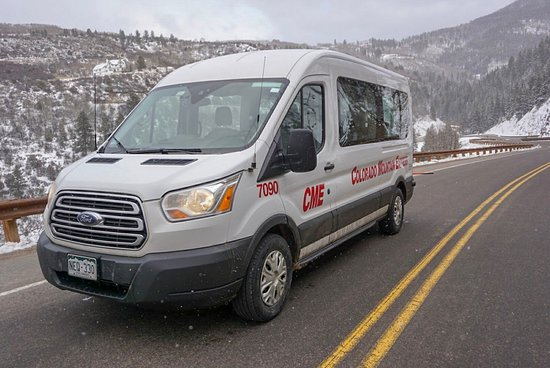 Epic Mountain Express : Ford Transit Vans serve as the primary vehicle for airport shuttles