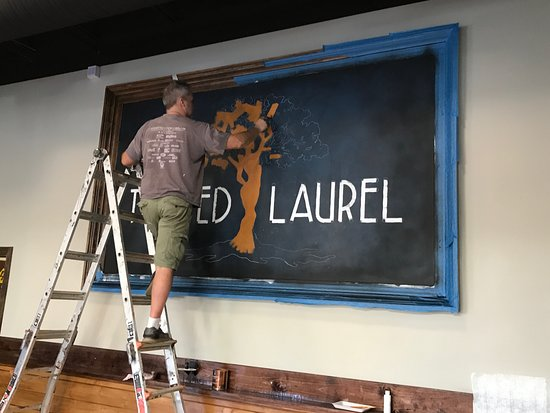 Twisted Laurel West: Thanks to Peter Parpan for doing an amazing job with our logo inside.