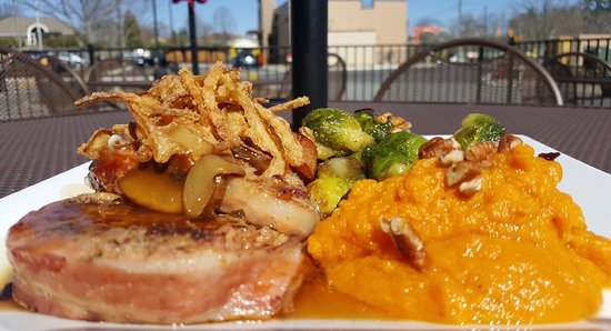 Twisted Laurel West: One of Chef Michael's bacon wrapped meatloaf specials.