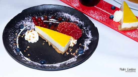 La Fenice restaurant : Cheesecake with pineapple