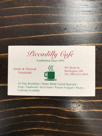 Piccadilly Cafe : Business Card