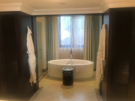 The Westin Turtle Bay Resort & Spa, Mauritius: Main Bathroom - Bath, Shower and Toilet