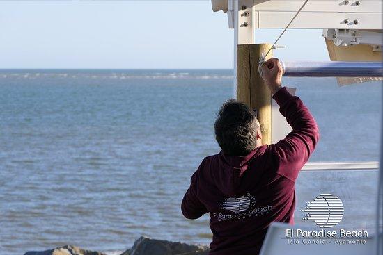 El Paradise Beach Club: Siempre con buenas vistas y resguardados los días de viento.