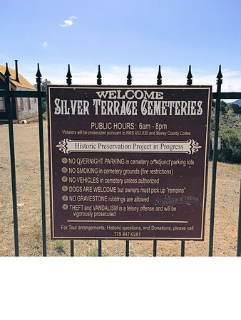 Silver Terrace Cemeteries: Sign