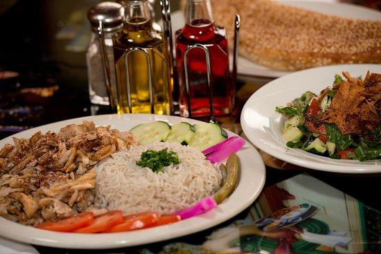 Mama Mia Cuisine Mediterranean food: chicken shawarma plat