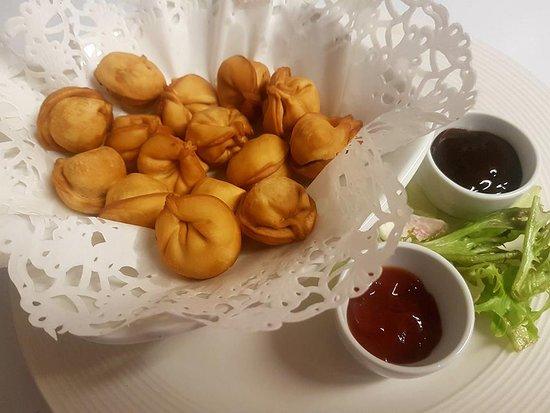 Russian Style Crepes: Deep fried Russian dumplings