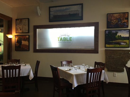 Southern Table foods: Southern Table: lots of Arkansas art