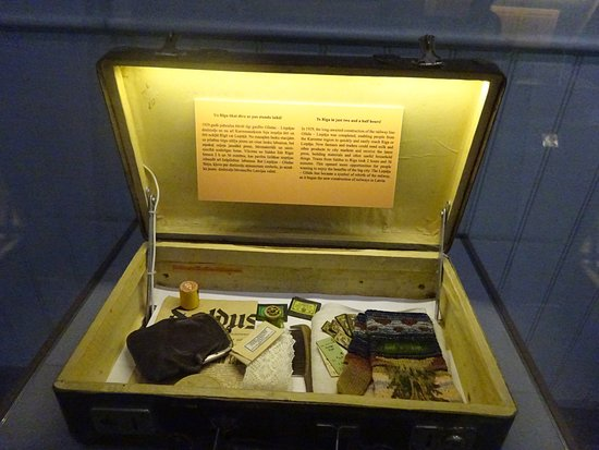 Railway History Museum: suitcase