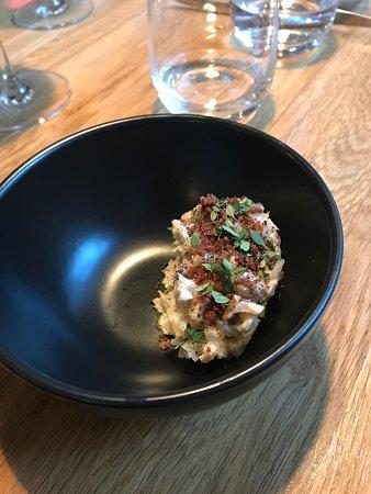 Gras: Tartar of smoked halibut