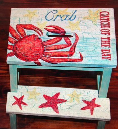 Fern and Dina's Gallery & Gifts: Eva Marie's Crab Stool