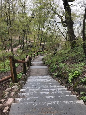 South Milwaukee, WI: Trail leading down to Lake Michigan