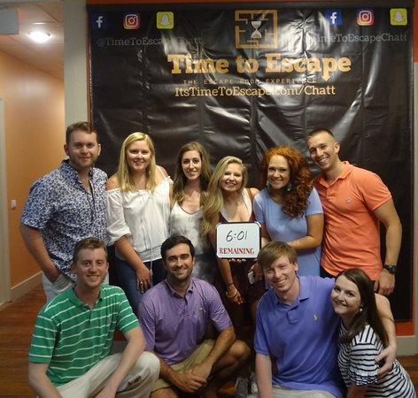 Time to Escape: the Escape Room Experience (Chattanooga): This group made it out with a bunch of time to spare! Great job!