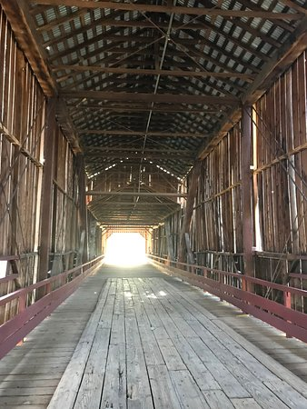 Honey Run Covered Bridge: inside bridge