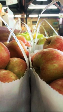 Oak Glen, CA: During apple season, all varieties of apples are available to be sampled