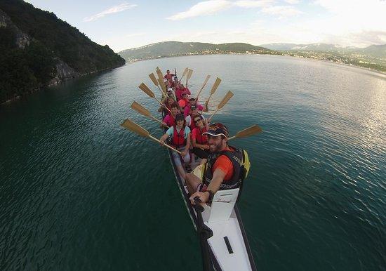 Chambéry-Le Bourget Canoë-Kayak: Le groupe au complet vue du tambour!