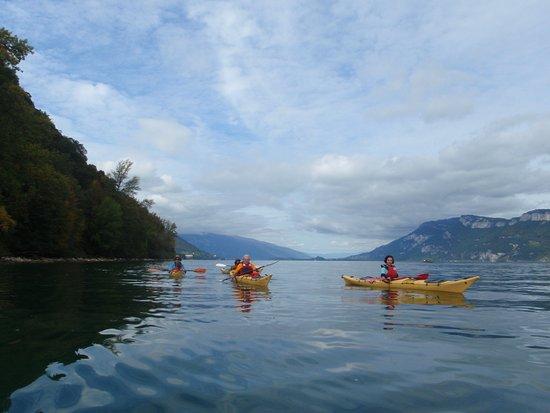 Chambéry-Le Bourget Canoë-Kayak: Le massif des bauges en arrière plan