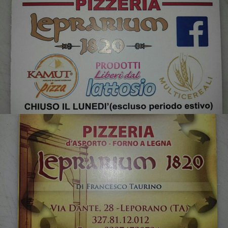 Leprarium 1820 Pizzeria d'asporto - pucceria