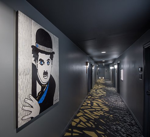 Elan Hotel: Art by Marcus Ross line our corridors