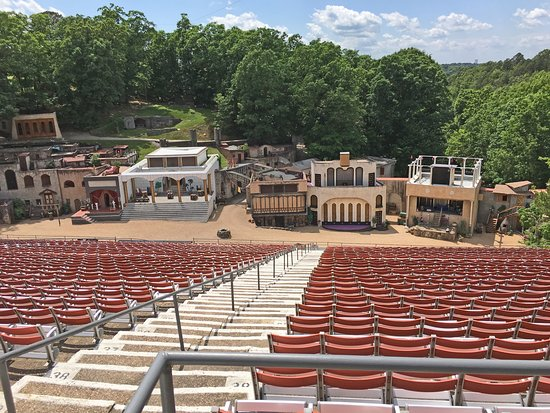 Christ of the Ozarks: Part of the amphitheatre where the passion play is held