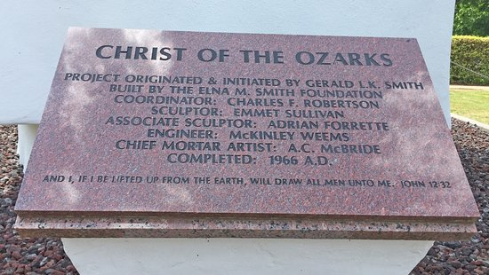 Christ of the Ozarks: Emmet Sullivan worked on Mount Rushmore