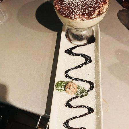 Amici Restaurant: Amici's homemade Tiramisu and very popular Affogato al caffe
