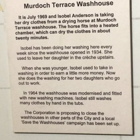 People's Story: Description of a washouse, which a visitor to the museum described to me from his own youth.