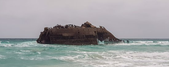 Santa Monica, Cape Verde: Santa Maria shipwreck on Postcards trip