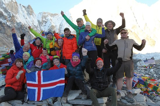 The Icelandic Mountain Company: Our team at Everest Base Camp