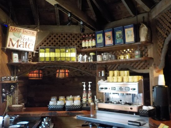 The Yellow Deli: Stocked drink bar.