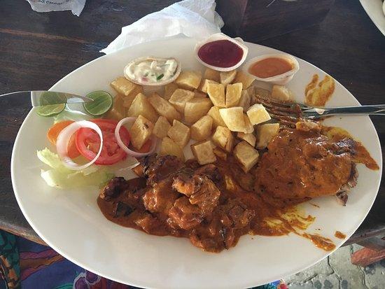 coconut curry octopus and heavenly tartar sauce for the chips - Picture of  Samaki samaki, Dar es Salaam - Tripadvisor